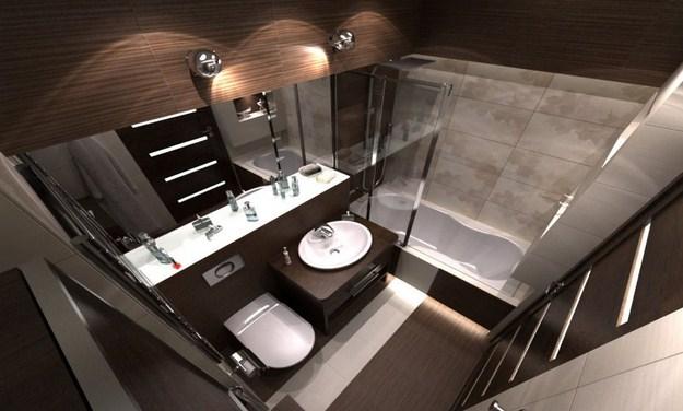 Łazienki - wyposażenie wnętrz - Ciemny wystrój łazienki